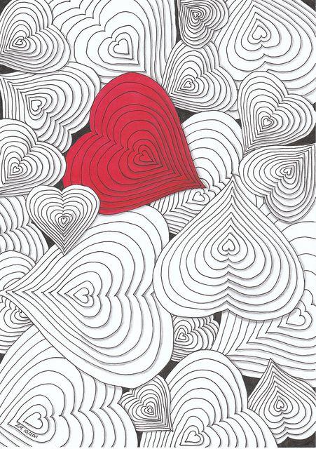 Coloriage de la Saint-Valentin à compléter.