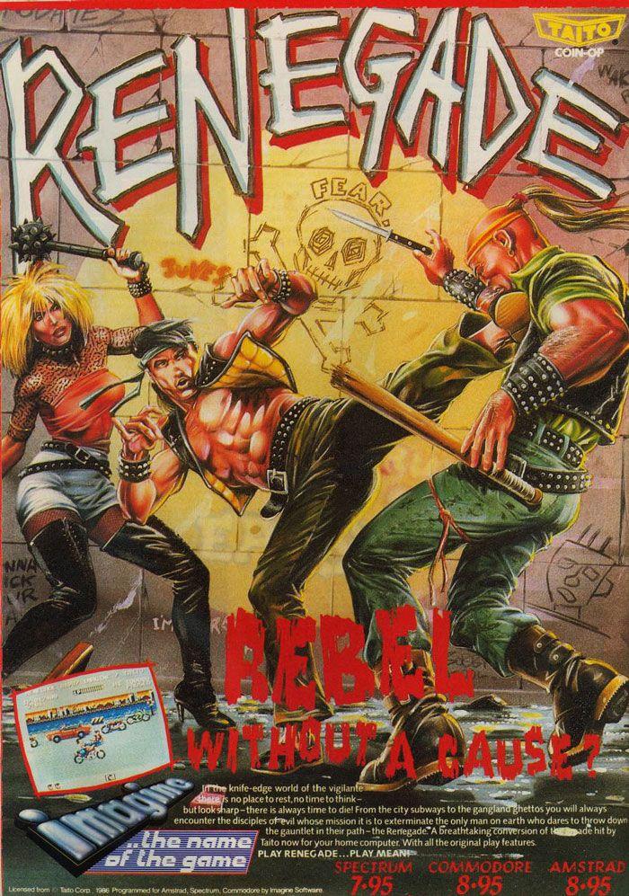 "Video game art: ""Renegade"" (1987) #vandroid"