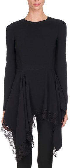 6161d42f148a Givenchy Long-Sleeve Cady Handkerchief Top