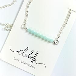 Bead Bar Necklace - Silver Plated  What a great bridesmaids gift!