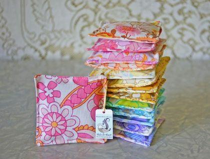 Fragrant Lavender Sachet - Retro Patterns (Upcycled Vintage Sheets Floral 60s 70s)