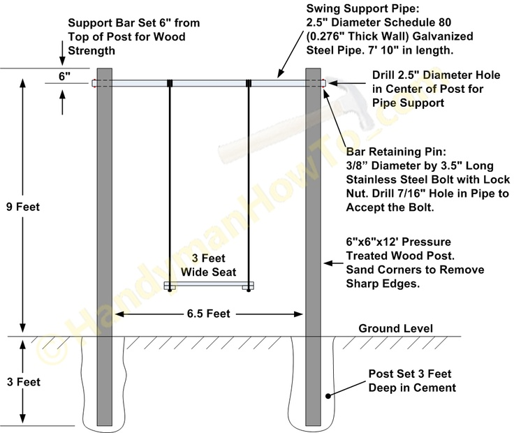 Outdoor Baby Swing Frame Plans - WoodWorking Projects & Plans