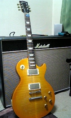 """My Les Paul and previous my Marshall """"Bluebreaker""""amp"""