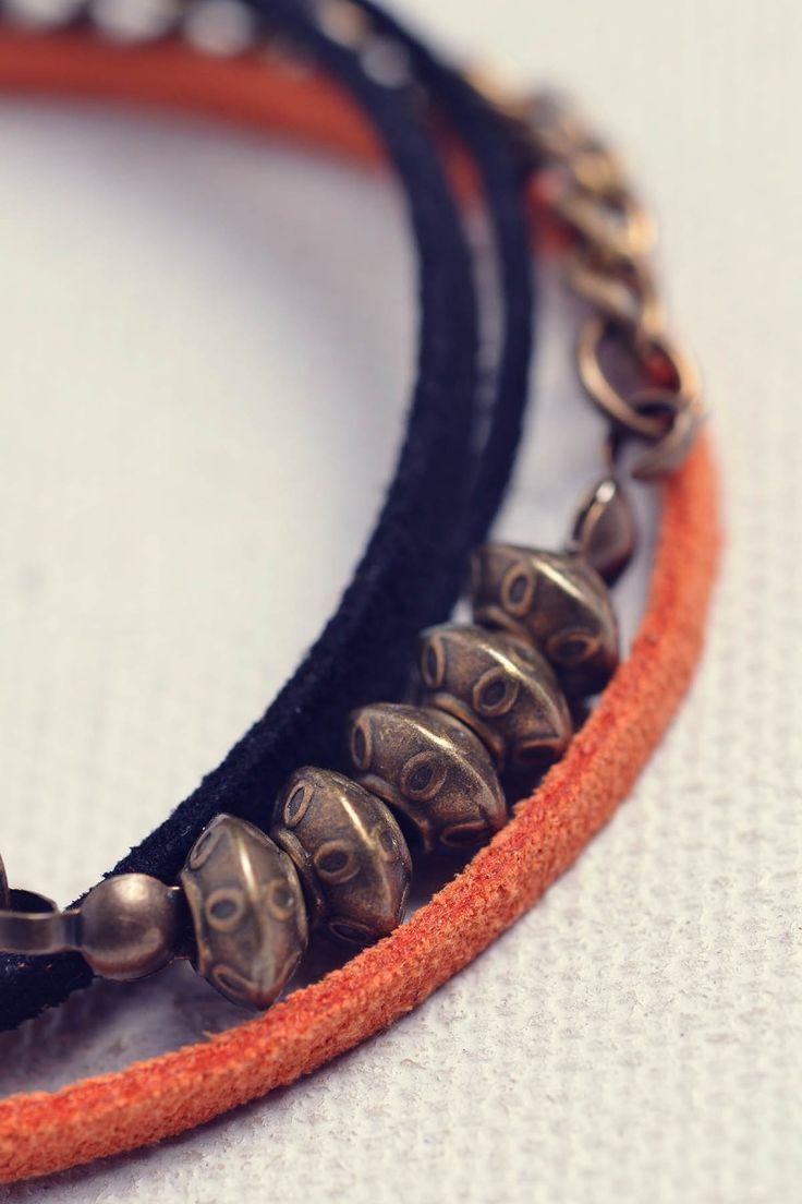 suede - earl brovst bracelet - handmade