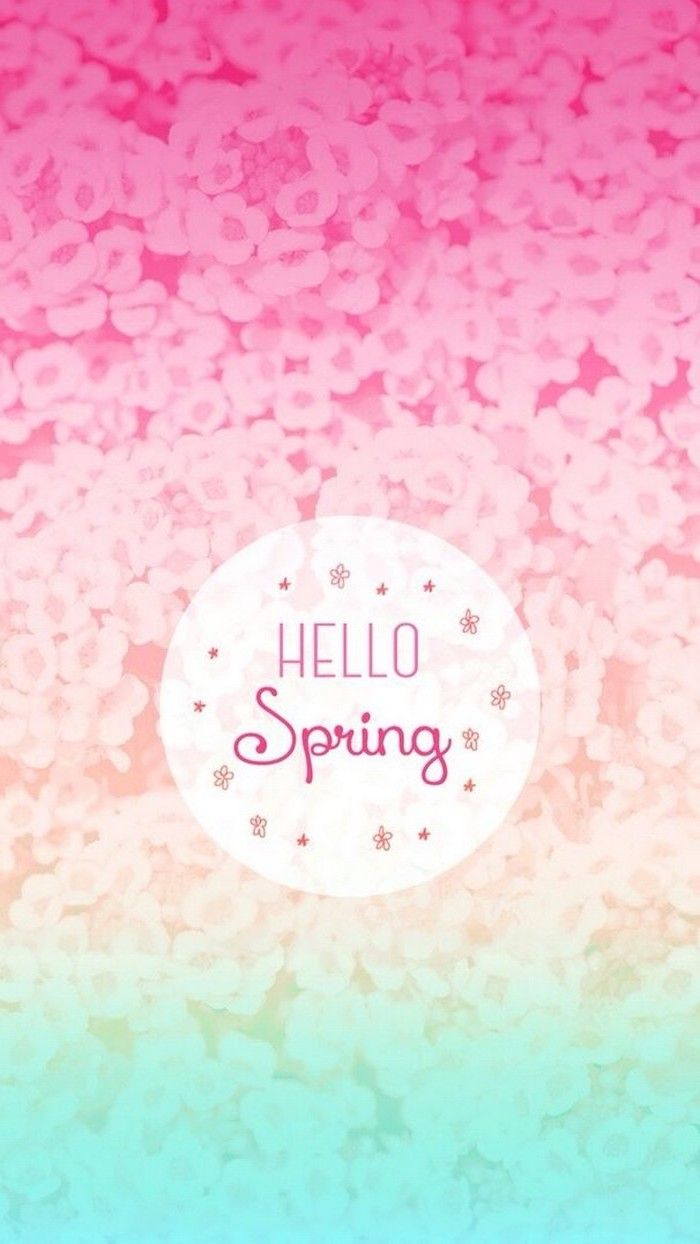 Rainbow Background Hello Spring Free Spring Wallpaper Phone Wallpaper Blooms In The Background Hello Spring Wallpaper Spring Wallpaper Iphone Wallpaper Images