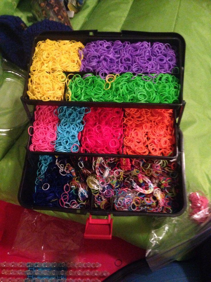 Rainbow loom organizer