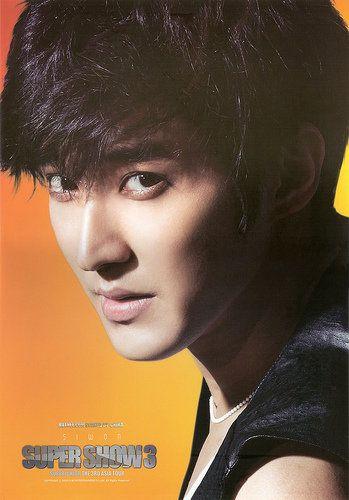 Siwon. Oh he looks very nice here. I like his hair xD