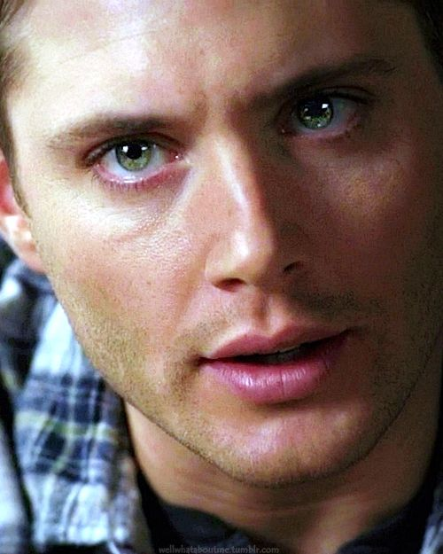 Dean Winchester...eyes though. Just look at those gorgeous green irises.