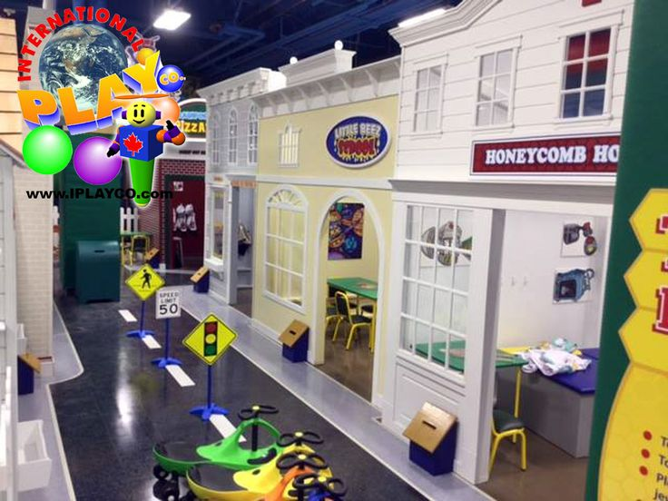 "New for International Play Company - MY TOWN is a ""Play Village"" pretend play concept. Fun interactive play for young children. Great for a children's ministry, family entertainment center, children's centre, recreation centers. All custom designed to meet your needs and budget. We have been creating FUN since 1999. #weCREATEfun #weBUILDfun"