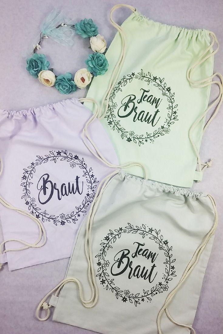 JGA Beutel-Set für Braut und Freundinnen im Floral-Style