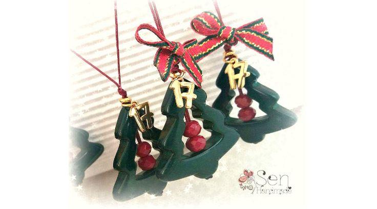 "Luck-Charms : Green ceramic christmas tree ""17"""
