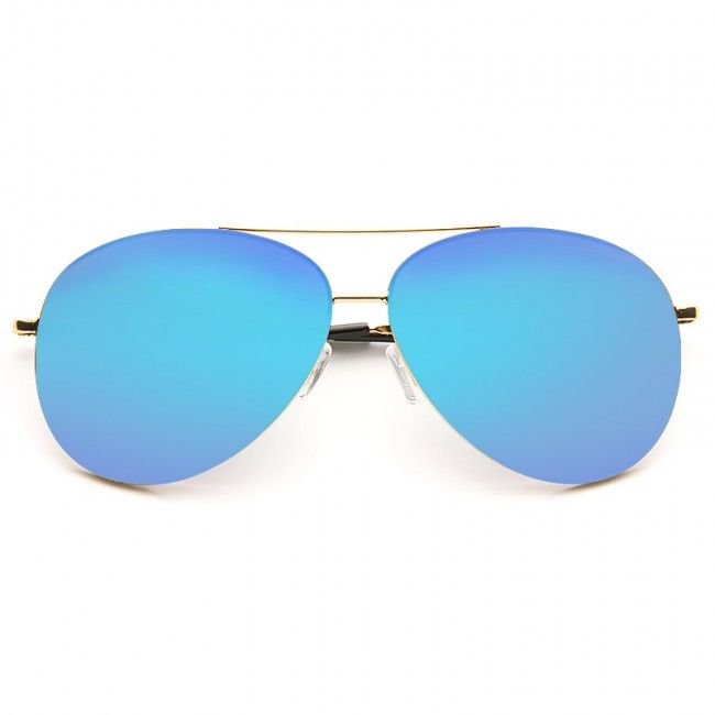 Cheap Aviator Sunglasses | Luxe X-Large 64mm Color Mirror Aviator Sunglasses | BleuDame.com