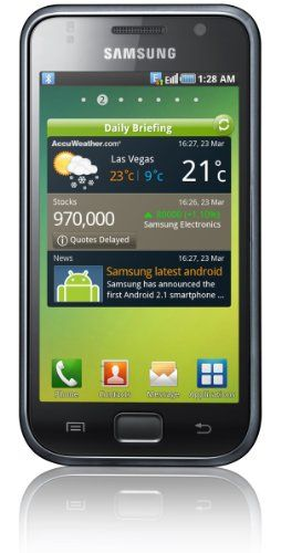 Samsung I9000 8 GB Galaxy S Unlocked GSM Smartphone with 5 MP Camera, Android OS, Touchscreen, Wi-Fi, GPS and MicroSD Slot--International Version with No U.S. Warranty (Black) Network: HSUPA 900/1900/2100, EDGE/GPRS 850/900/1800/1900. Samsung Android 2.1 (Eclair). Android Samsung UI (Multiple Homescreens). Processor: 1GHz CPU Speed. Dimension: 64.2 X 122.4 X 9.9 mm (119g). Memory: MicroSD(Up to 32... #Samsung #Wireless