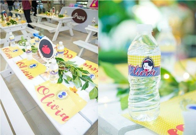 Olivia's Snow White and the Enchanted Forest Theme Party – Table centerpiece