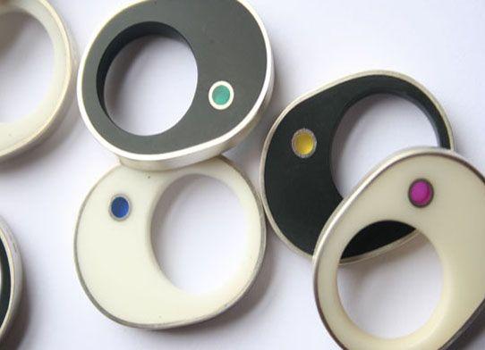 Laura Creer resin rings