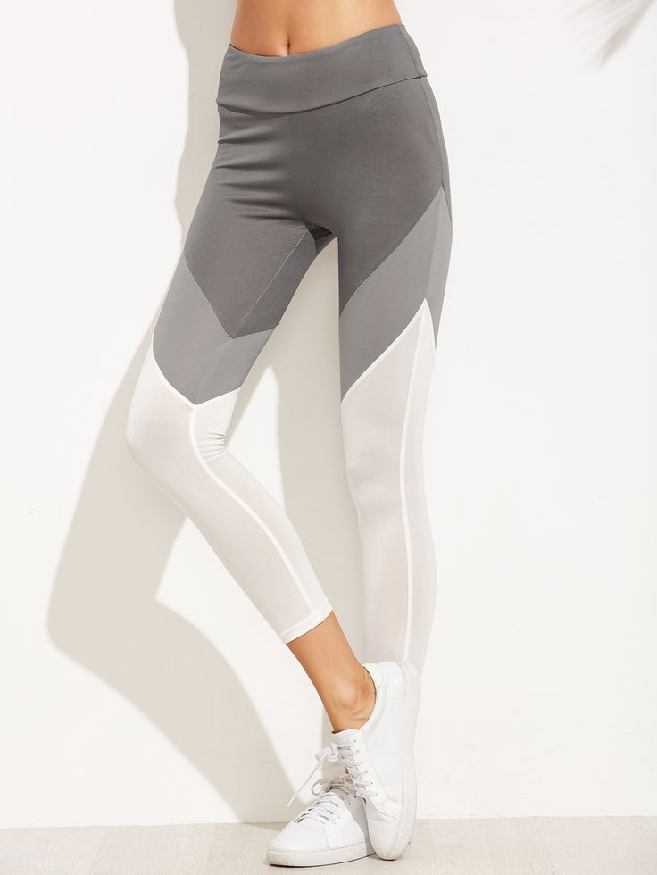 Shop Color Block Wide Waistband Leggings online. SheIn offers Color Block Wide Waistband Leggings & more to fit your fashionable needs.