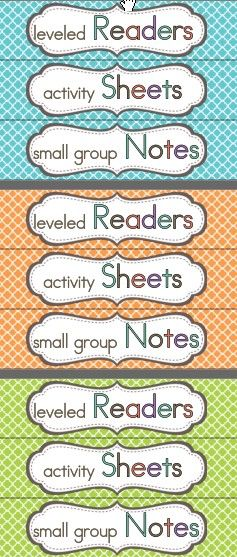 Wonders Leveled Readers - Small Group Organization - plus Units 1-6 bin labels, Monday - Friday, and Emergency Sub labels.