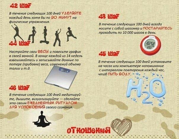 60 шагов к лучшей жизни за 100 дней  #успех #привычки #психология #жизнь