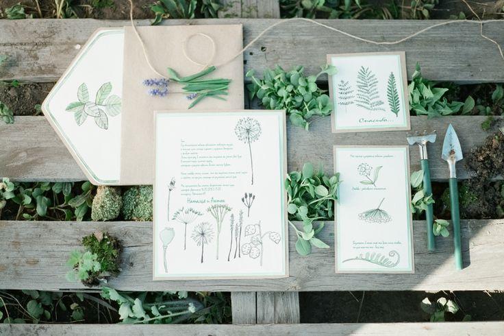 Botanical wedding inspiration shoot