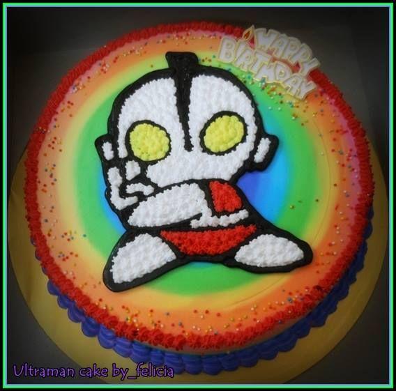 40 best Ultraman cake images on Pinterest Anniversary cakes
