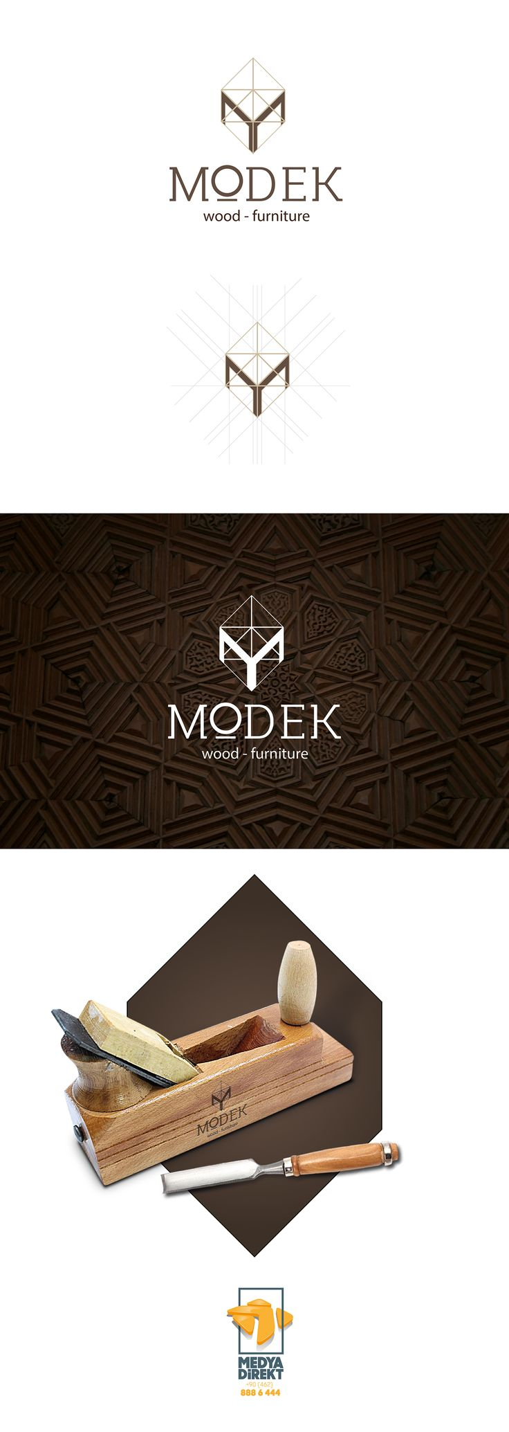 Modek - wood & furniture Logo Design on Behance                                                                                                                                                                                 More