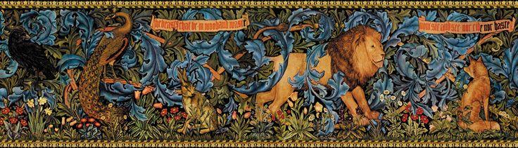 Carol Meade William Morris Woodland Border Wallpaper