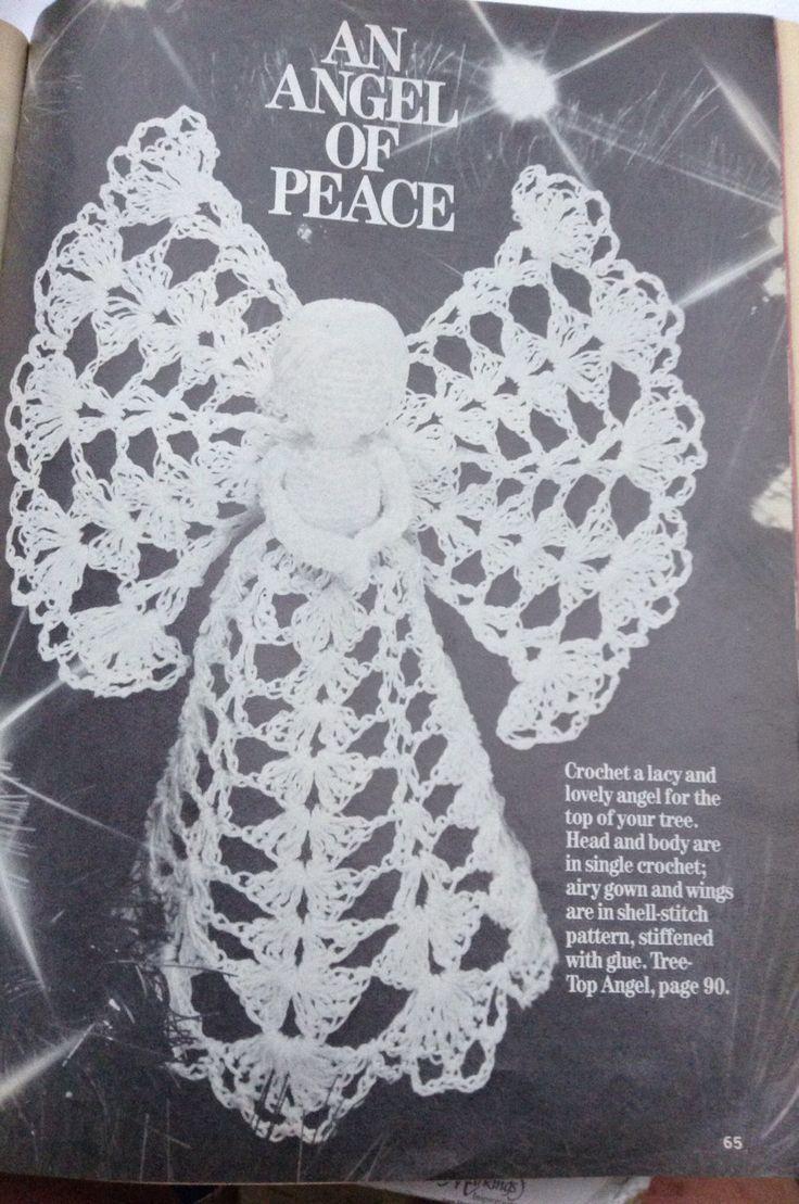Crochet Angel Christmas Tree Top instruction pattern by Followlight on Etsy