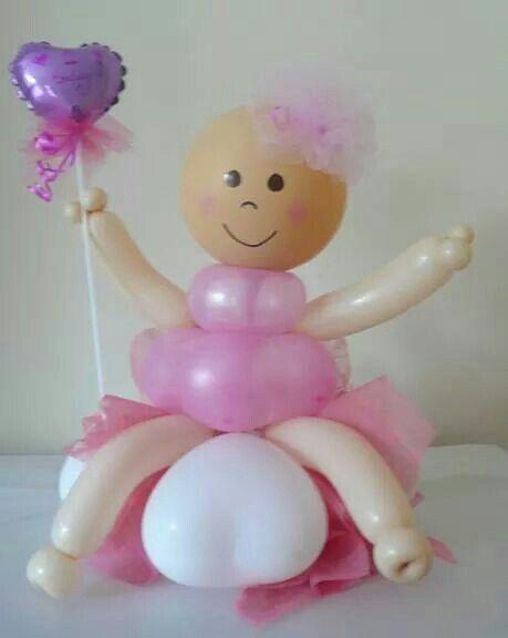 con globos para baby shower