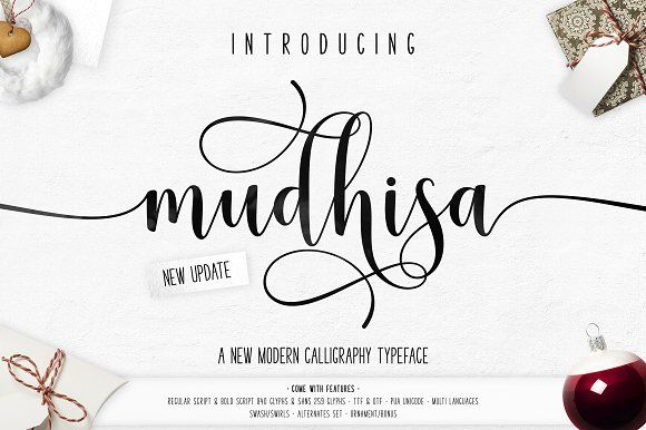 Mudhisa Script | 4 Font | 20% OFF by Barland on @creativemarket