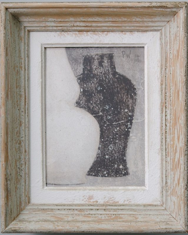 Small 2 - Original acrylic painting on wood in antique frame by Peter Woodward