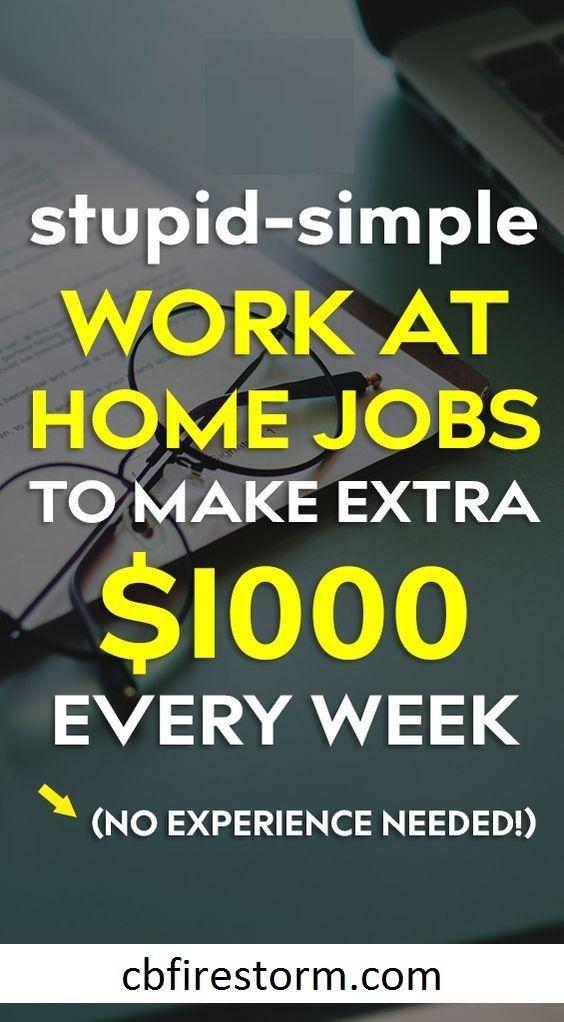Dumm-einfache Arbeit zu Hause Jobs, um jede Woche mehr Geld zu verdienen.