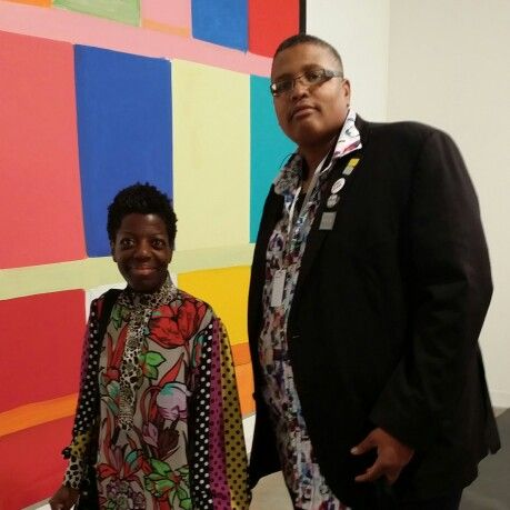 Thelma Golden of @studiomuseum and Najee Dorsey Founder and CEO of Black Art In America #ArtBaselMiami  #doyoubasel