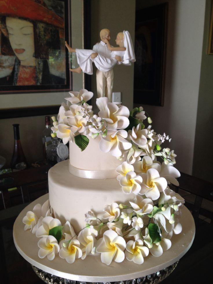 Frangipani Beach Theme Wedding Cake Made In Friday
