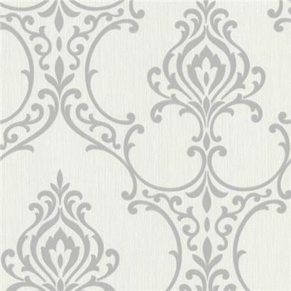 495-69020 Light Grey Nouveau Damask - Scott - Beacon House Wallpaper