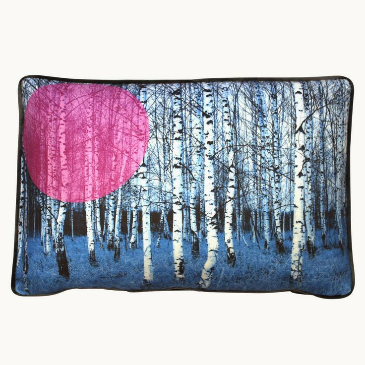 BIRCHES BLUE CUSHION FROM CUMULUS LIVING The cushion comes filled with a 50/50 feather poly mix. $199.90