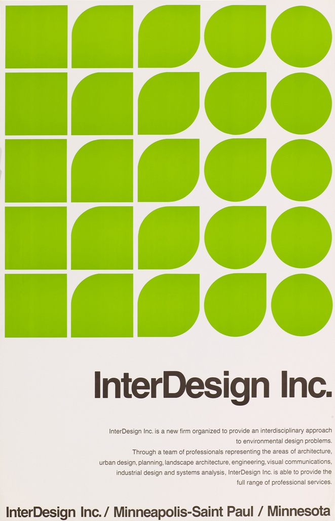 poster for InterDesign Inc. by Peter Seitz (1960's)