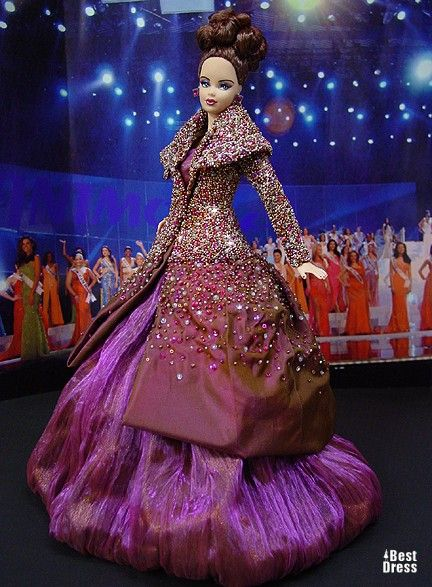 Ninimomo's Barbie.  Mediterranean and Middle East.  2009/2010  Miss Corsica (dress Dior)