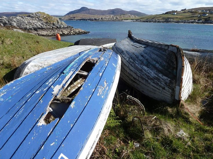 Old boats in the Highlands of Scotland - Talmine in Sutherland