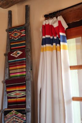 Pendleton Blanket as drapery                                                                                                                                                                                 More