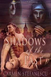 Shadows of the Past - Carmen Stefanescu. Anne, a young businesswoman living in 1990, went on a holiday trip where she came across with a gem encrusted cross. The sight evokes a vision from a past scene of two women dressed in nun robes. 1480, there's Genevieve, a young nun trying to escape from the wicked abbess who wants her dead for having fallen in love with father Andrew.  http://pages-intheattic.blogspot.com.co/2017/04/shadows-of-past-carmen-stefanescu.html#more