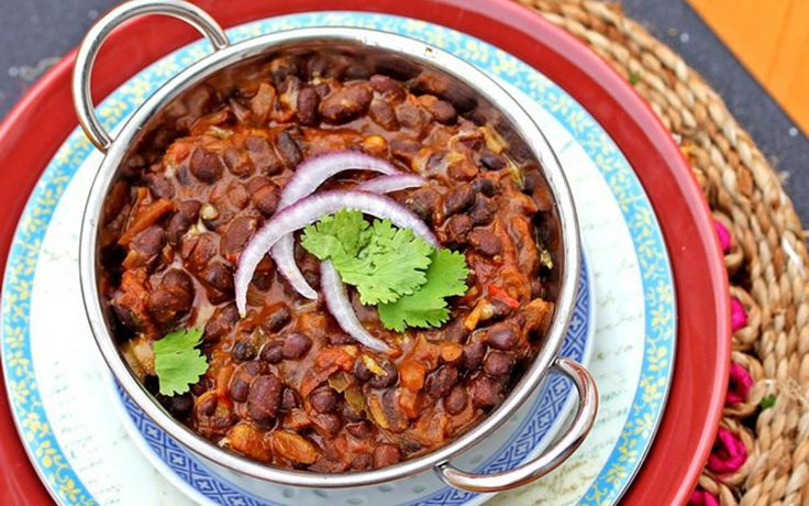 <p>This recipe for black beans is inspired by the classic Indian black lentil recipe called Dal Makhani. </p>
