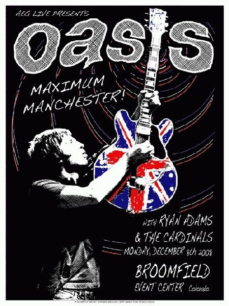 Concert poster for Oasis