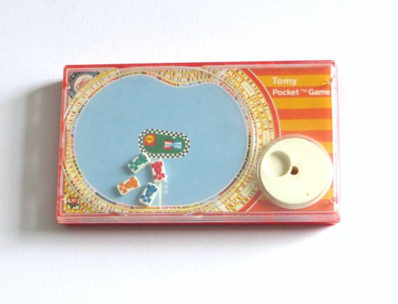 Tomy Pocket Speedway Game 1975 Collectible Toy.   I lovedddddd this
