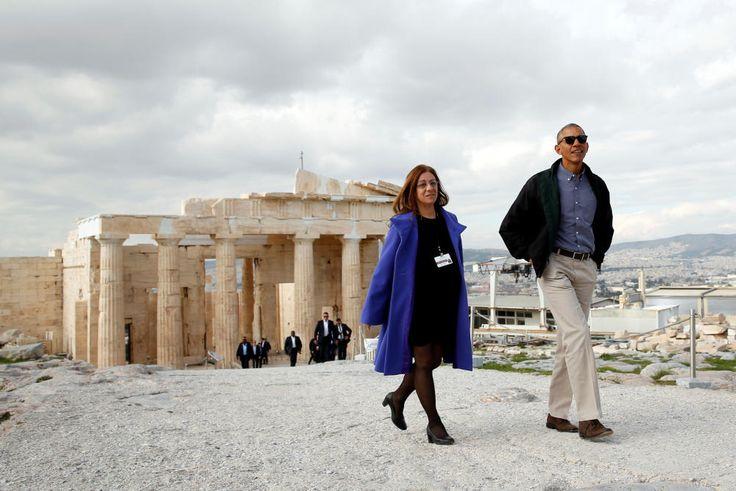 Barack Obama visita el Partenón