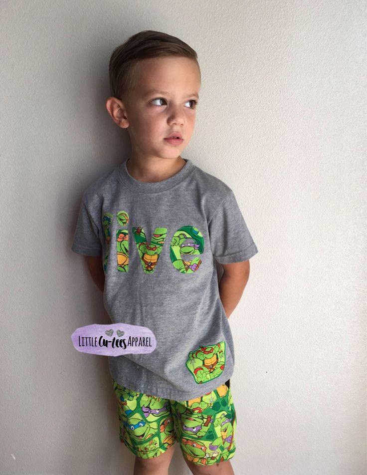 A personal favorite from my Etsy shop https://www.etsy.com/listing/460946578/teenage-mutant-ninga-turtles-birthday-t