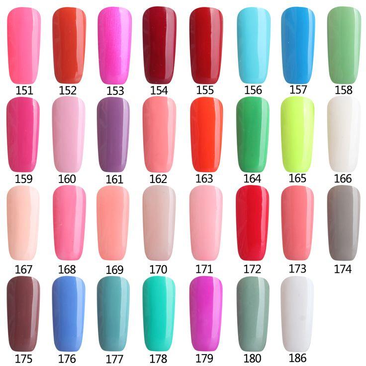 Colores 151-180 Precio Gel Soak Off Gel UV Esmalte de Uñas Al Por Mayor Lacas de uñas de Gel de Colores Manicura Guías Tip Top Coat Base Libre