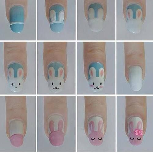 Find Easy Easter nail art design tutorials for making nail designs on  Easter.Make Easter bunny nail designs,Easter egg nail art,Carrot nails - Best 25+ Bunny Nails Ideas On Pinterest Easter Nail Designs