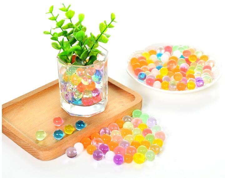 water beads pearl shaped cystal soil mud jelly balls for vase potting water gun Party Decoration gift craft DIY favor Wh