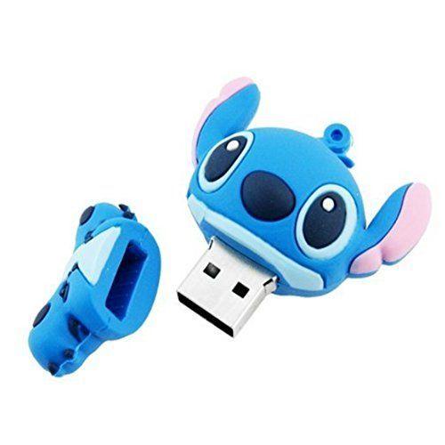 Sunworld Amusement Mignon Clé USB 3.0 32Go Originale Rapide Animaux Conception Fantaisie Flash Drive Mémoire Stick Stitch Bleu #usbflashdrive