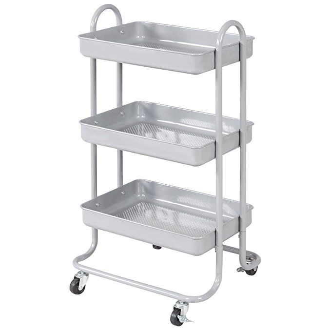 Amazon Com Giantex 3 Tier Rolling Kitchen Trolley Cart Portable